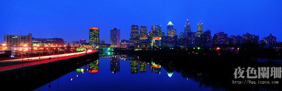 一组城市夜景图片